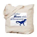 Gettin' Down With Dinosaurs Tote Bag