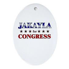 JAKAYLA for congress Oval Ornament