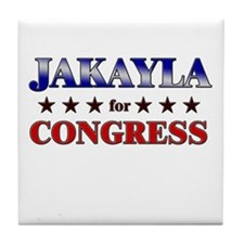 JAKAYLA for congress Tile Coaster