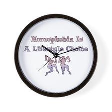 Homophobia Lifestyle Choice Wall Clock