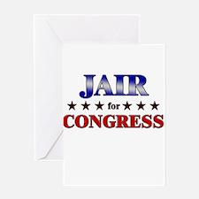 JAIR for congress Greeting Card