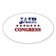 JAIR for congress Oval Decal