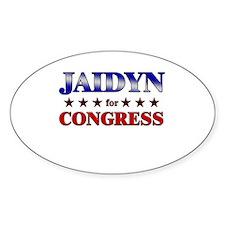 JAIDYN for congress Oval Decal