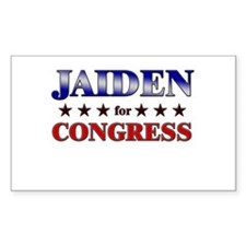 JAIDEN for congress Rectangle Decal