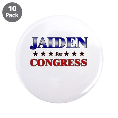 "JAIDEN for congress 3.5"" Button (10 pack)"