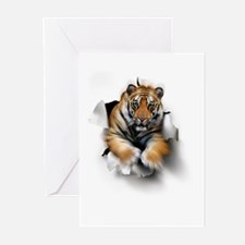 Tiger, artwork Greeting Cards