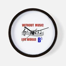 MUSIC B FLAT Wall Clock