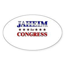 JAHEIM for congress Oval Decal
