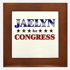 JAELYN for congress Framed Tile