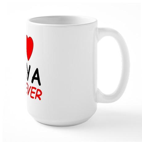 I Love Amya Forever - Large Mug