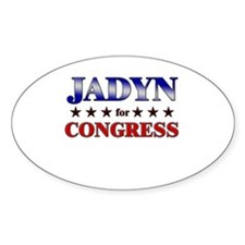 JADYN for congress Oval Decal