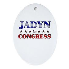 JADYN for congress Oval Ornament