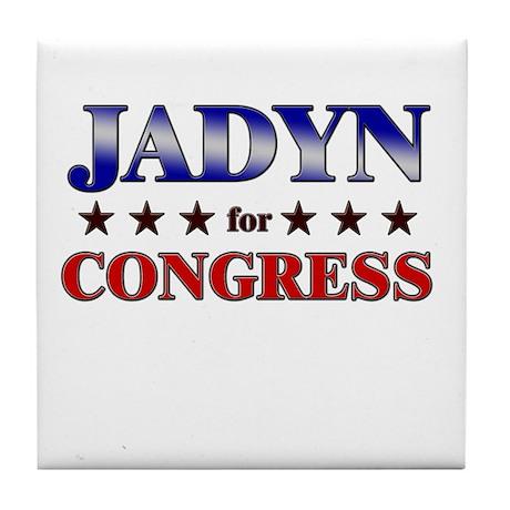 JADYN for congress Tile Coaster