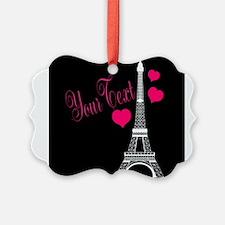 Paris France Eiffel Tower Ornament