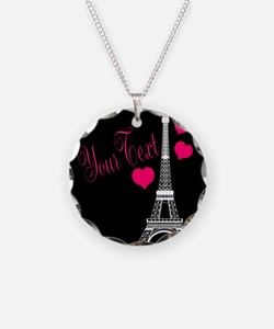 Paris France Eiffel Tower Necklace