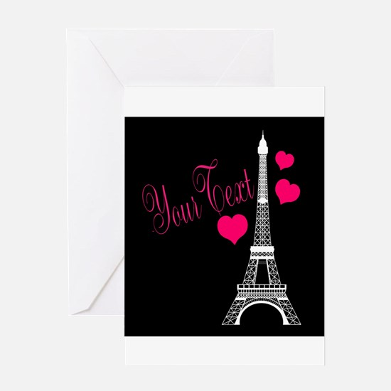 Paris France Eiffel Tower Greeting Cards