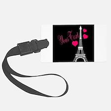 Paris France Eiffel Tower Luggage Tag