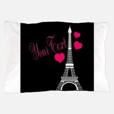 Paris France Eiffel Tower Pillow Case
