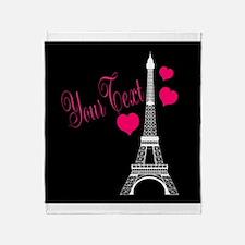 Paris France Eiffel Tower Throw Blanket