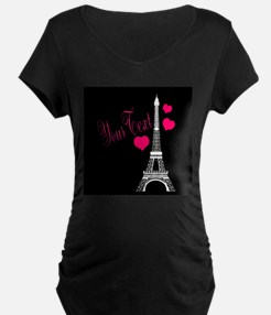 Paris France Eiffel Tower Maternity T-Shirt