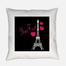 Paris France Eiffel Tower Everyday Pillow
