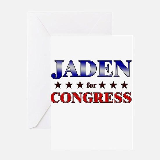 JADEN for congress Greeting Card