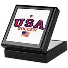 USA American Soccer Keepsake Box