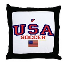 USA American Soccer Throw Pillow