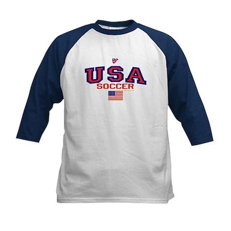 USA American Soccer Kids Baseball Jersey
