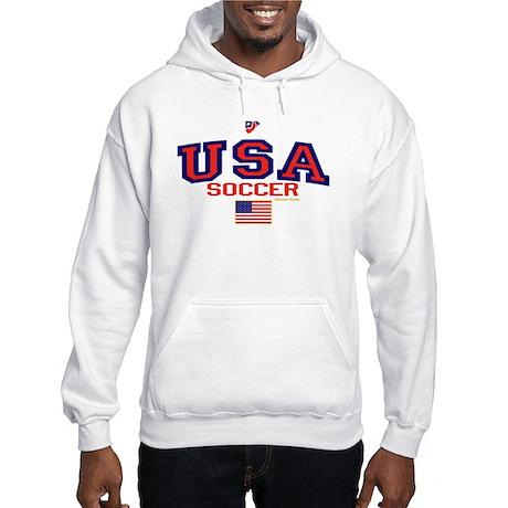USA American Soccer Hooded Sweatshirt