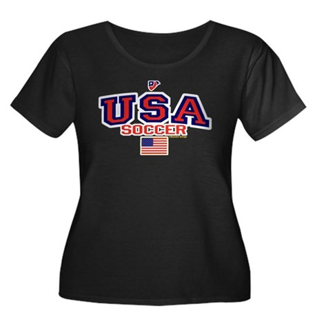 USA American Soccer Women's Plus Size Scoop Neck D