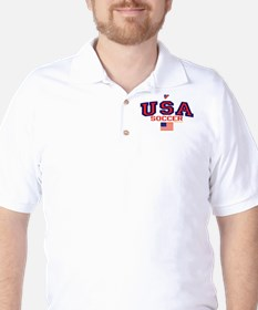 USA American Soccer Golf Shirt