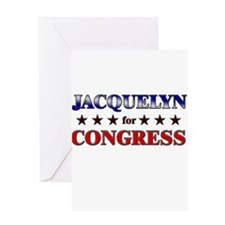 JACQUELYN for congress Greeting Card