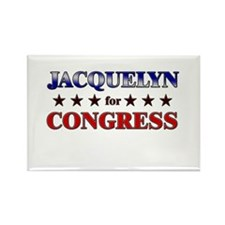JACQUELYN for congress Rectangle Magnet
