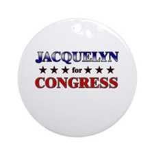 JACQUELYN for congress Ornament (Round)