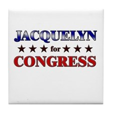 JACQUELYN for congress Tile Coaster