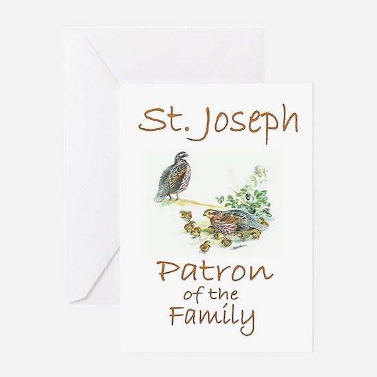 St Joseph Birds PSP8 RESIZED Greeting Cards