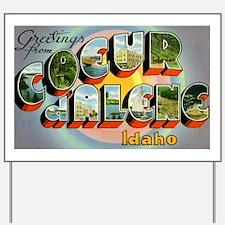 Coeur d'Alene Idaho Yard Sign
