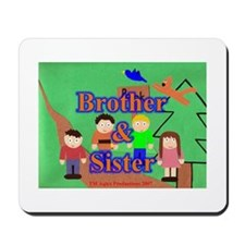 Brother and Sister Mousepad