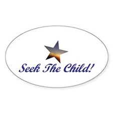 Seek The Child! Oval Decal