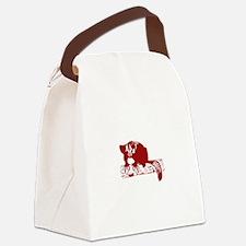 Red Lemur Canvas Lunch Bag