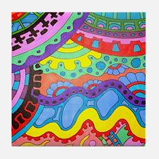 Unique Coloring pages Tile Coaster