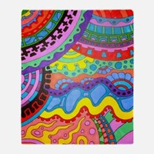 Cute Coloring pages Throw Blanket