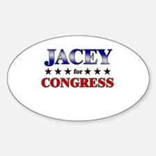 JACEY for congress Oval Decal