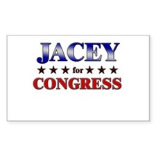 JACEY for congress Rectangle Decal