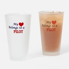 My heart belongs to a Pilot Drinking Glass