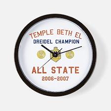 Dreidel Champion Wall Clock
