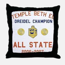Dreidel Champion Throw Pillow