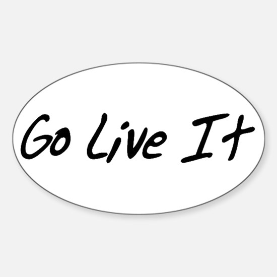 Go Live It Black logo transparent backgrou Decal