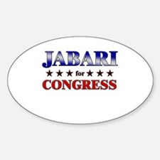 JABARI for congress Oval Decal